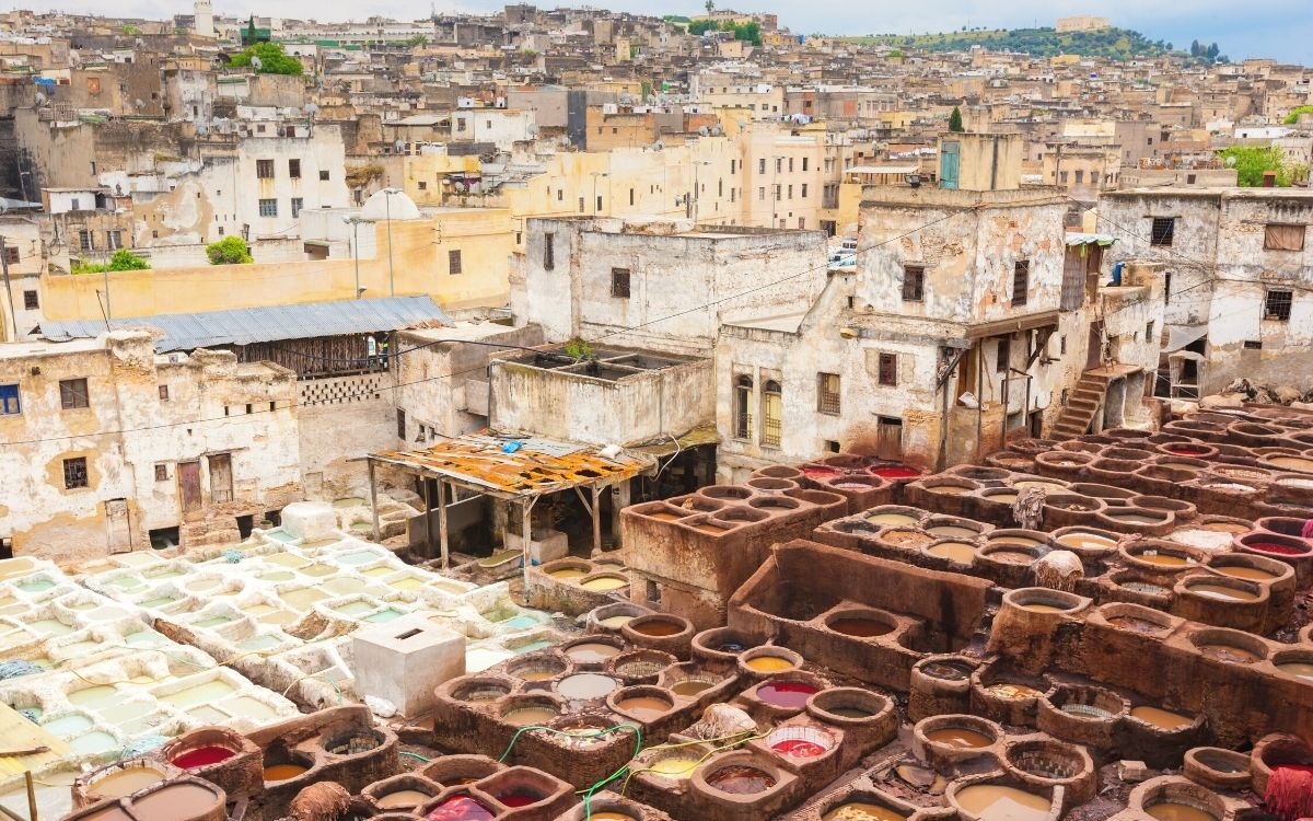 Fes leather tanneries