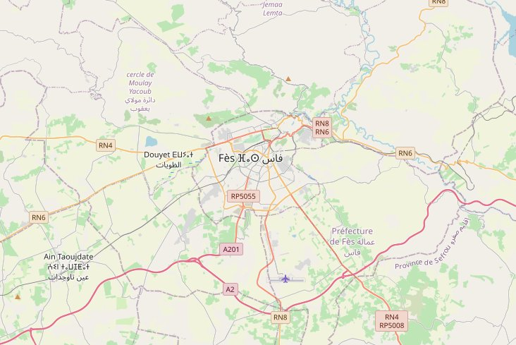 City Map to start Morocco tours from Fes