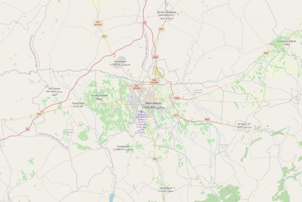 City Map to start Morocco tours from Marrakech